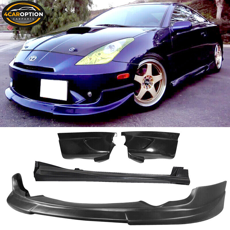 Fits:03-05 Toyota Celica C1 Front + Rear Lip + Side Skirt