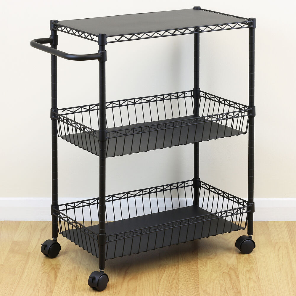 Multi purpose rolling trolley cart kitchen utility craft for Rolling craft storage cart
