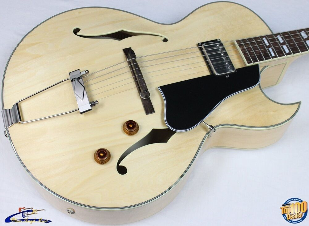 eastman ar371ce bd hollowbody archtop electric guitar w hsc blonde demo 38284 ebay. Black Bedroom Furniture Sets. Home Design Ideas