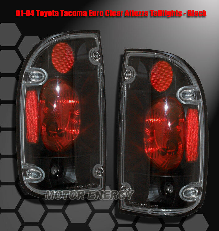 Details About 01 02 03 04 Toyota Tacoma Jdm Altezza Rear Tail Lights Light Black S Runner 2 4d