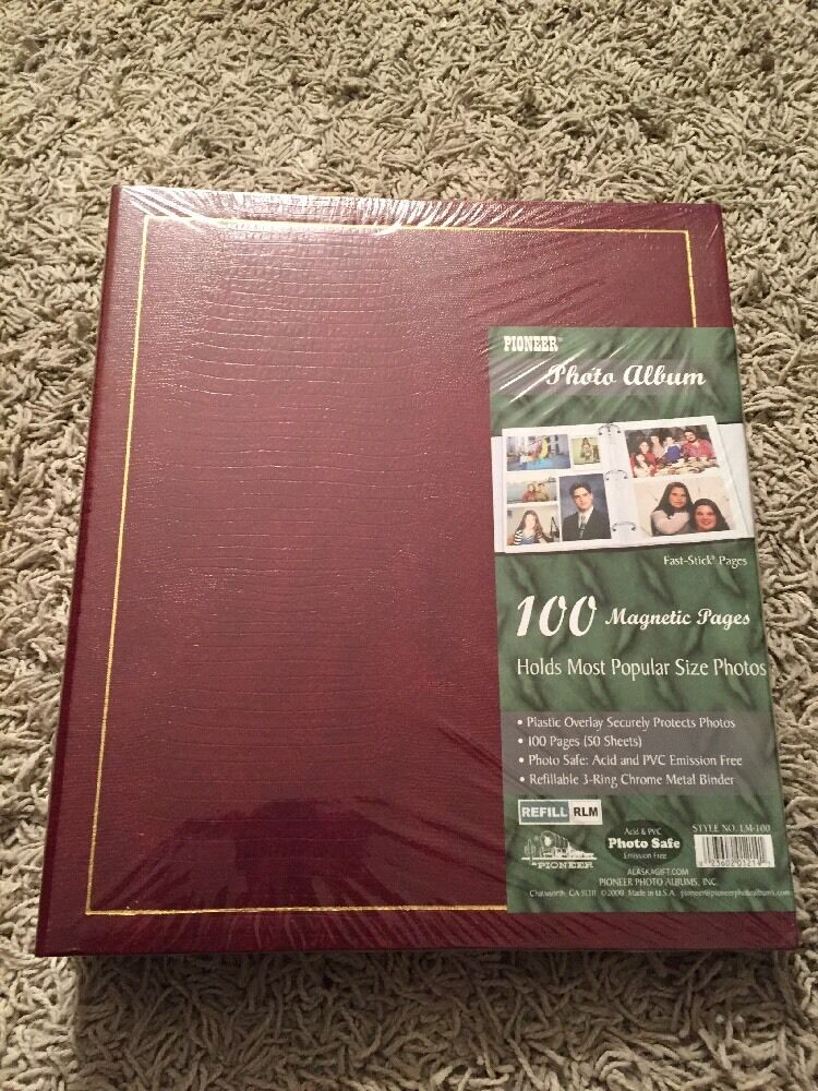 new vintage pioneer photo album with 100 magnetic pages