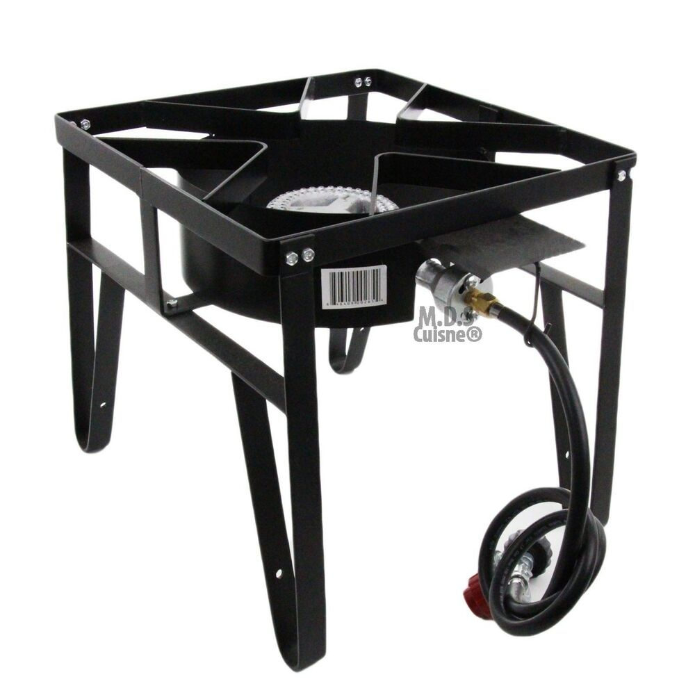 High Pressure Gas Stove : Single high pressure gas burner square patio outdoor stove