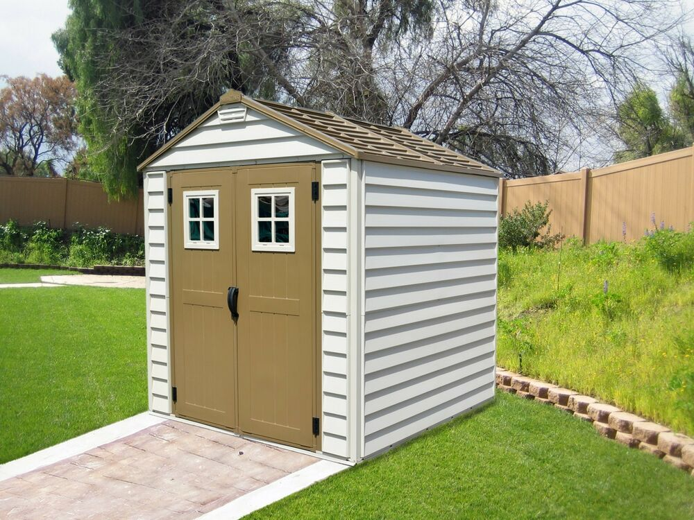 Duramax 7x7 storemax vinyl shed w foundation framing kit for Garden shed 7x7