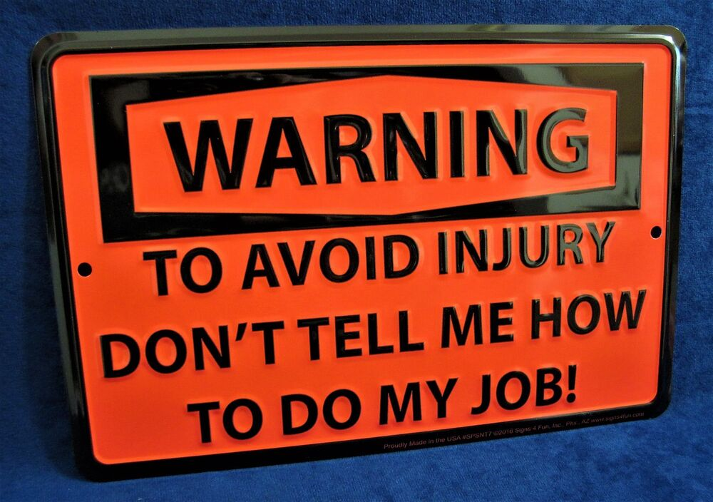 Man Cave Signs To Buy : To avoid injury us made embossed metal tin warning sign