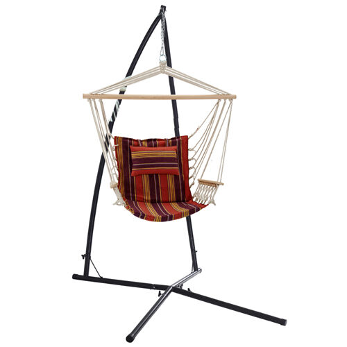 Oztrail hammock chair frame stand set ebay for Hammock chair stand plans