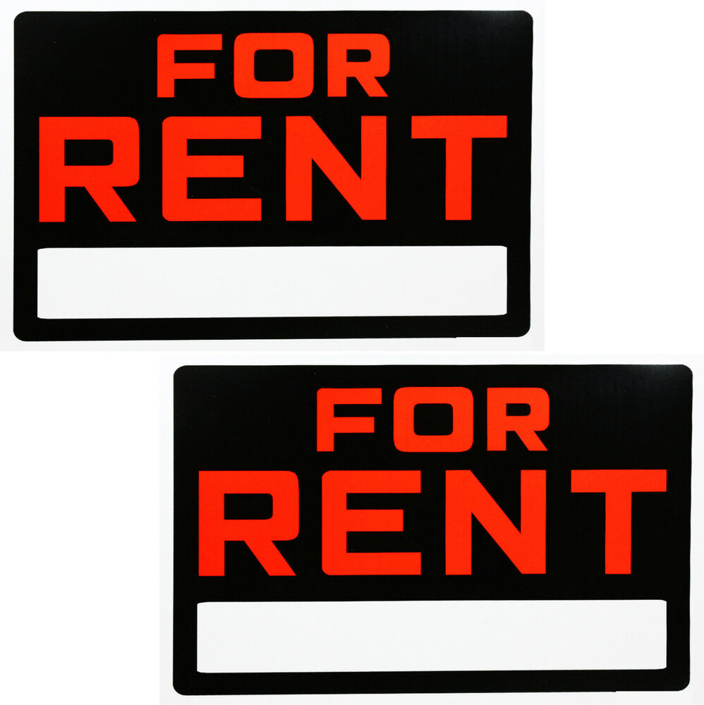 "Ebay Houses For Rent: 2 PCS FOR RENT SIGN 8""X12"" BUSINESS HOME RENTAL USA"