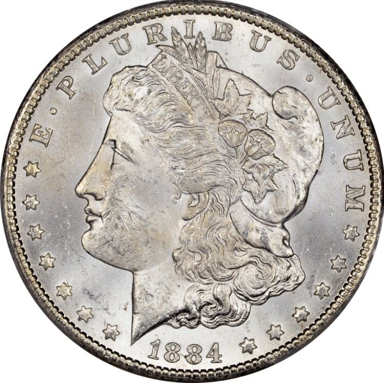 1884 Cc Morgan Silver Dollar Brilliant Uncirculated Bu