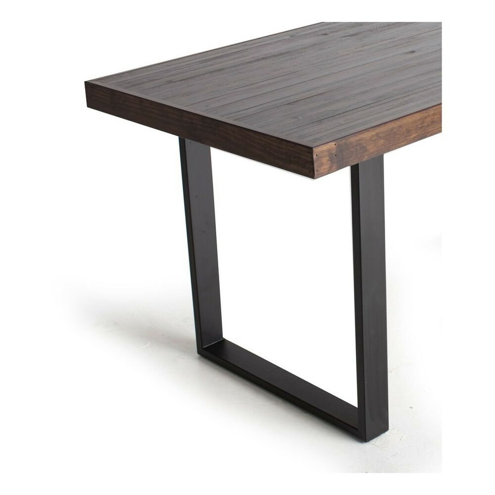 Black Matte Steel Table Legs Satin Pair Contemporary  : s l1000 from www.ebay.com size 1000 x 1000 jpeg 45kB