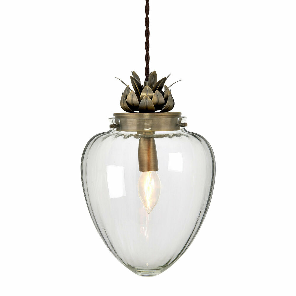 glass vintage retro chandelier ceiling fitting pendant