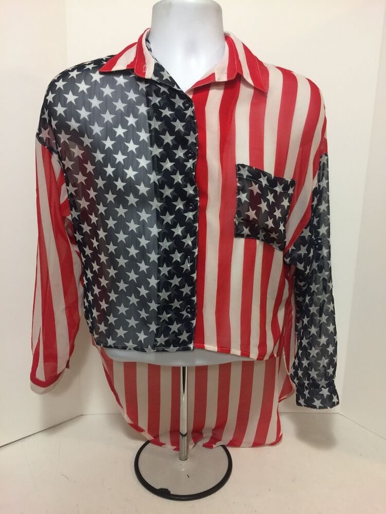 American Flag Womens Shirt