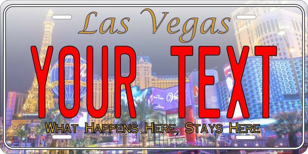 Las vegas license plate personalized custom auto car bike for Ebay motors las vegas
