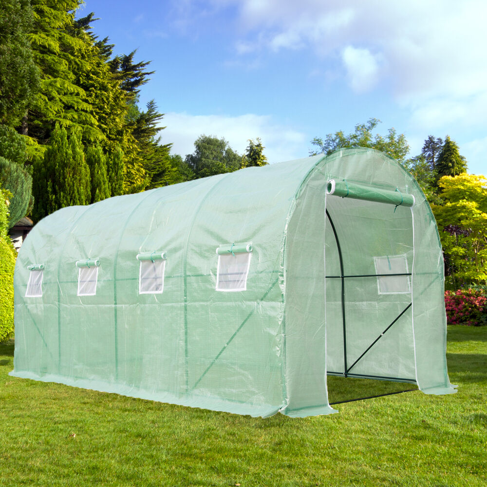Dome Home Building Kits: Heavy Duty Walk In Green House Cover Frame Dome Kit Plant