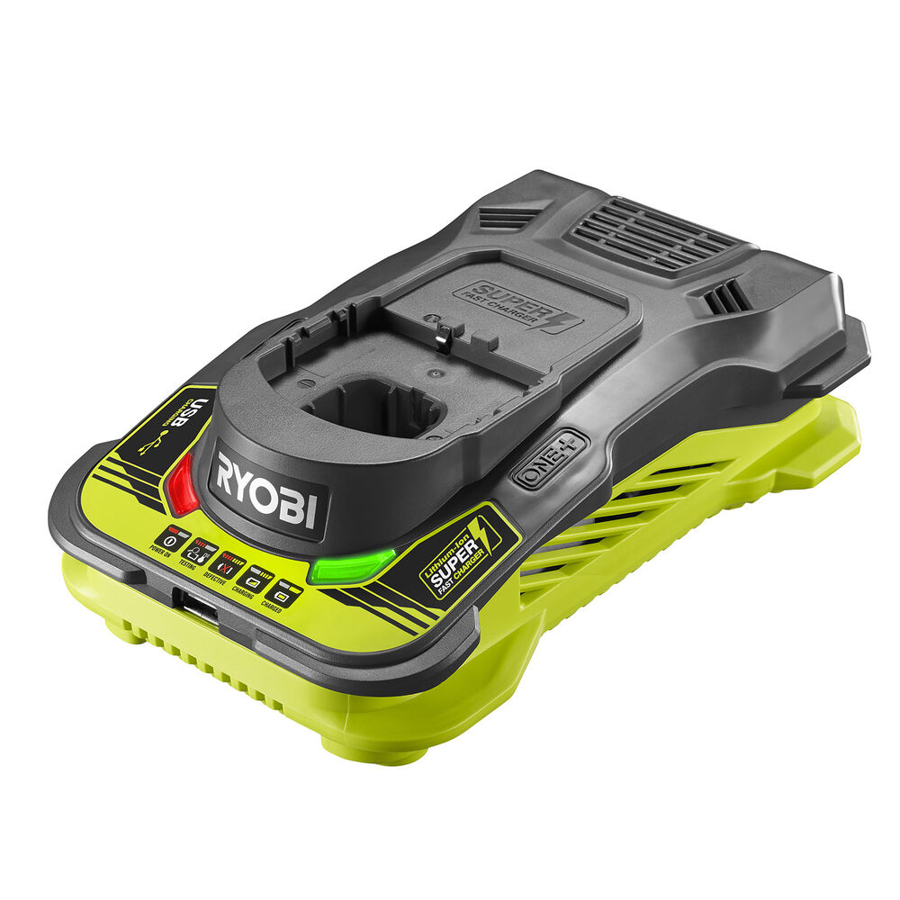 Ryobi 18v One Super Fast Charger Wall Mountable Usb Charging Port Ebay