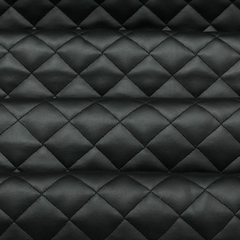 Diamond quilted faux leather leatherette car interior soft - Car interior upholstery material ...