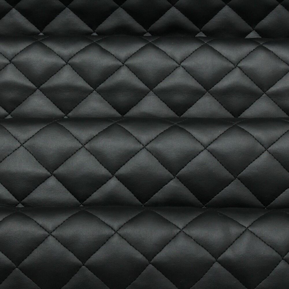 Diamond Quilted Faux Leather Leatherette Car Interior Soft Upholstery Fabric Ebay