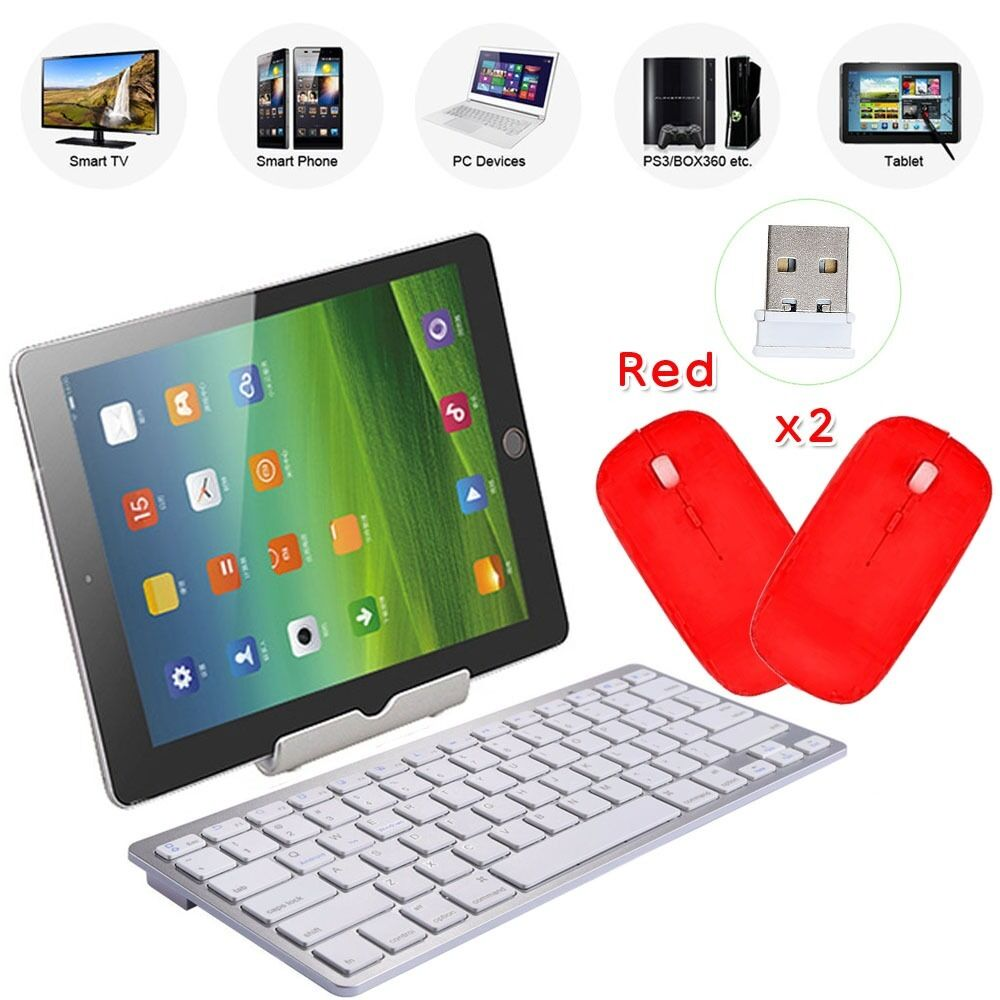 silm wireless keyboard bluetooth 3 0 keypads for windows mac ios android 2 mouse ebay. Black Bedroom Furniture Sets. Home Design Ideas
