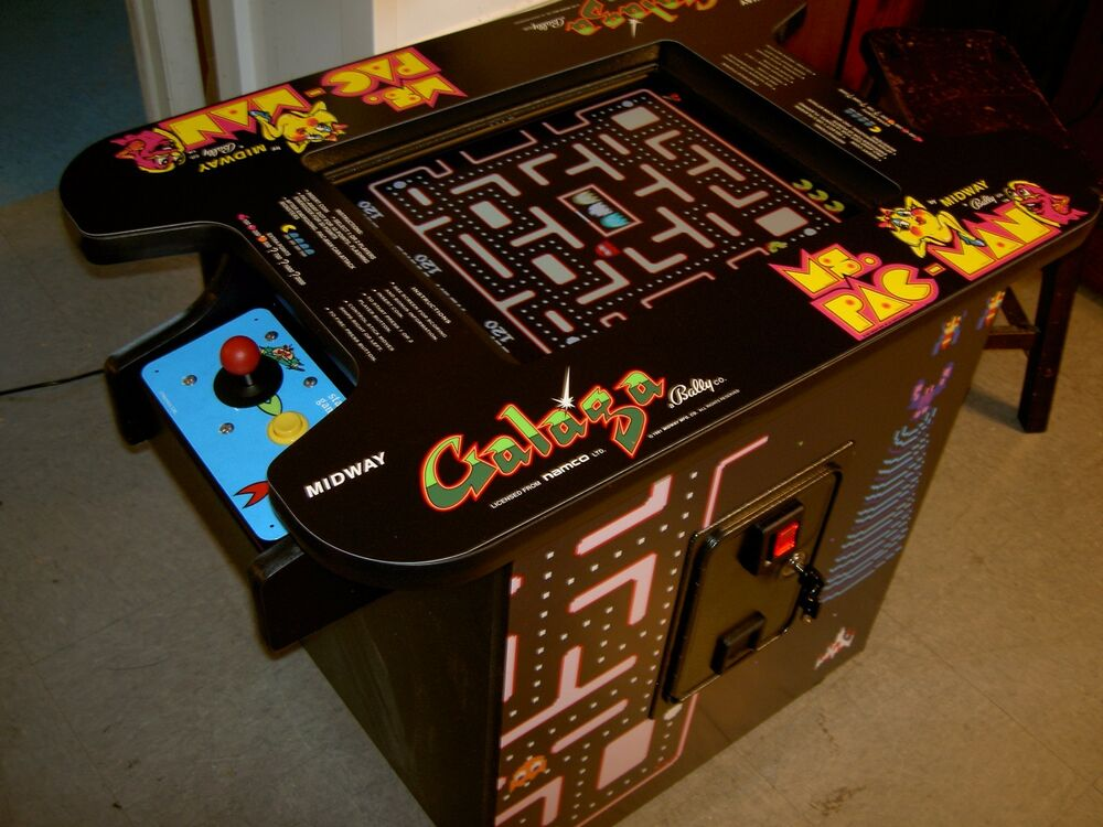 Commerical Classic Coin Op Cocktail Table Arcade Game Free