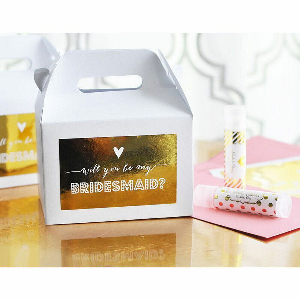 Bridesmaid And Maid Of Honor Question Gift Boxes Set Of 8