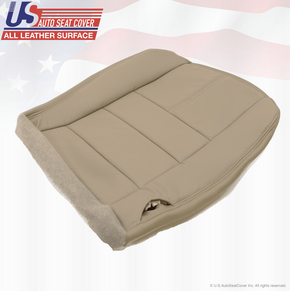 Truck Seat Cover Reviews >> 2008 09 2010 Ford F250 F350 Driver Bottom Replacement Leather Seat Cover Tan | eBay