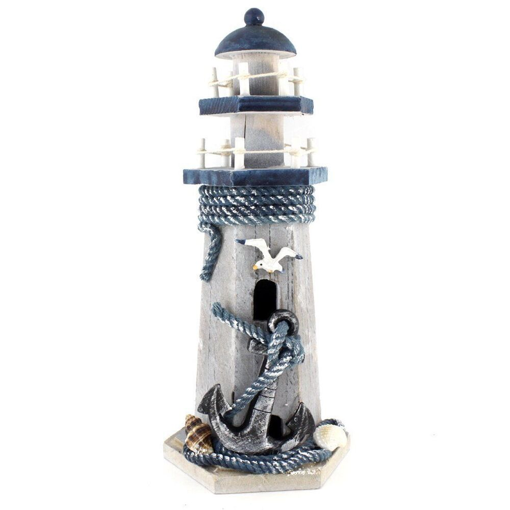 Ornament Archer Wooden Nautical Lighthouse Home Rooms