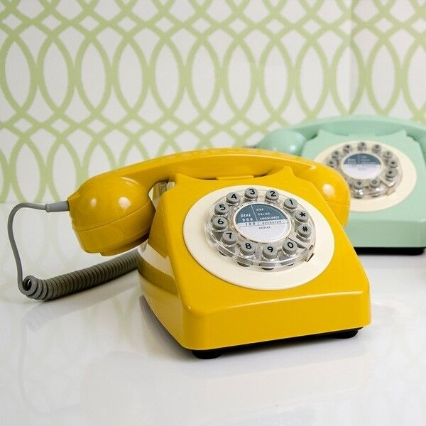 Retro Vintage Corded Push Button Old Dial Style Phone
