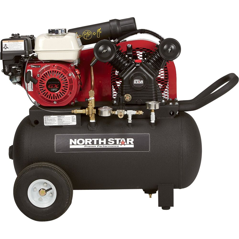 Northstar Portable Gas Powered Air Compressor 20 Gal Hor