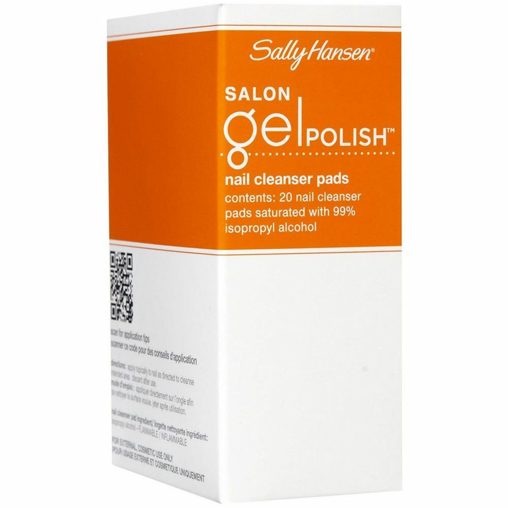 Sally Hansen Salon Pro Gel Nail Polish: Sally Hansen Salon Gel Polish Nail Cleanser Pads 20 Ea