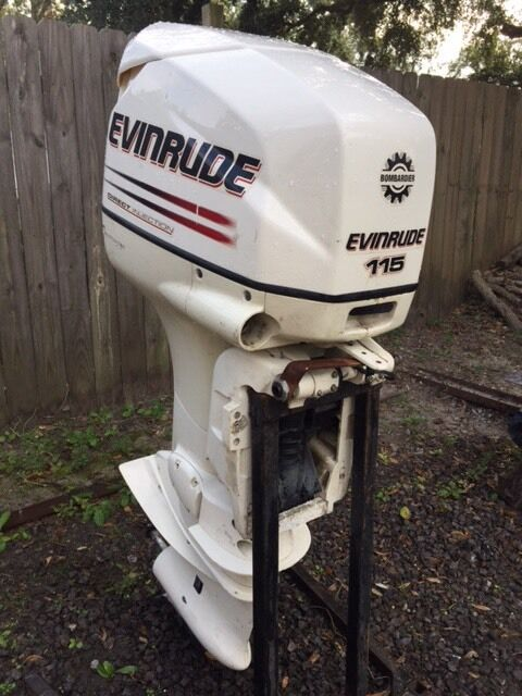 2003 evinrude 115 hp outboard boat motor engine johnson for 115 johnson outboard motor