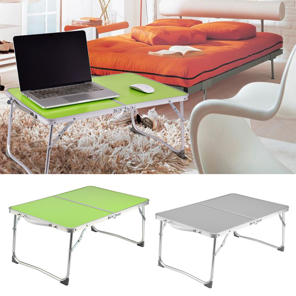 Portable Folding Picnic Camping Desk Laptop Table Bed