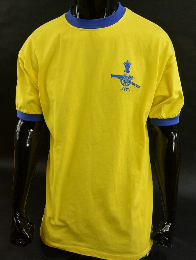 Details about SCORE DRAW Arsenal GUNNERS 1971 FA Cup Final Shirt no. 11  SIZE XL (adults) b2cce8ddc