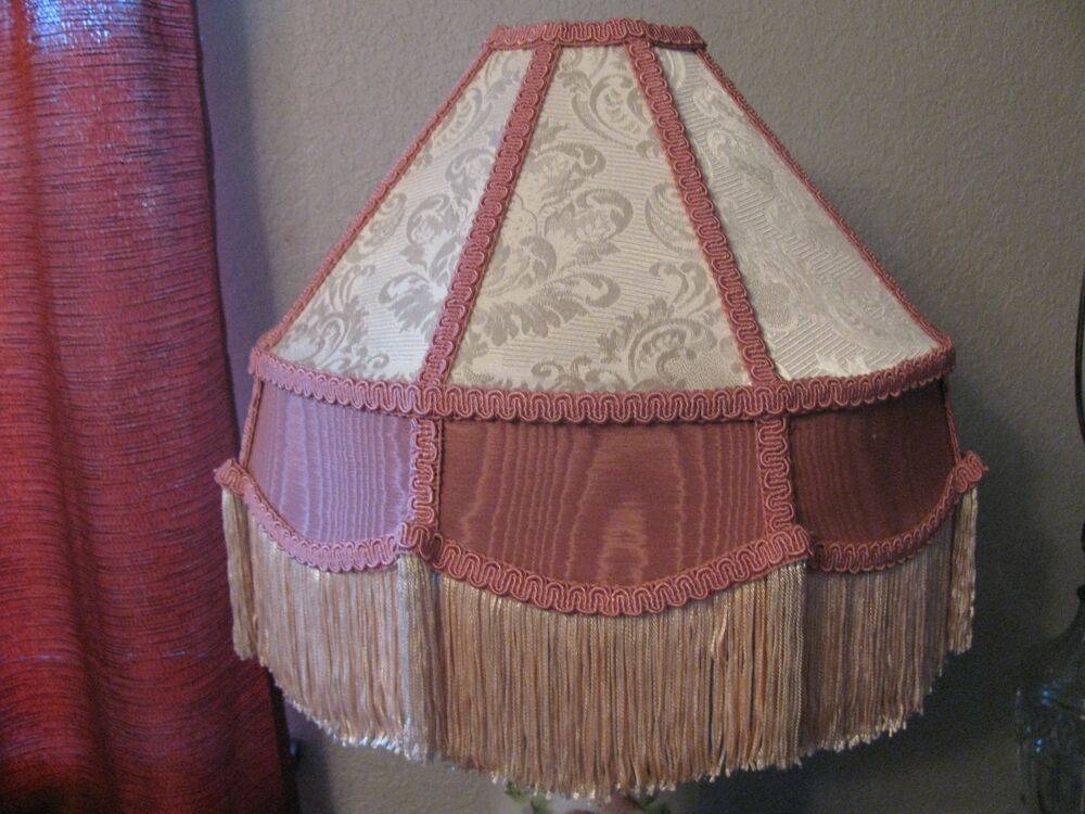 Victorian French Med Lamp Shade Royal Quot Rose Cream