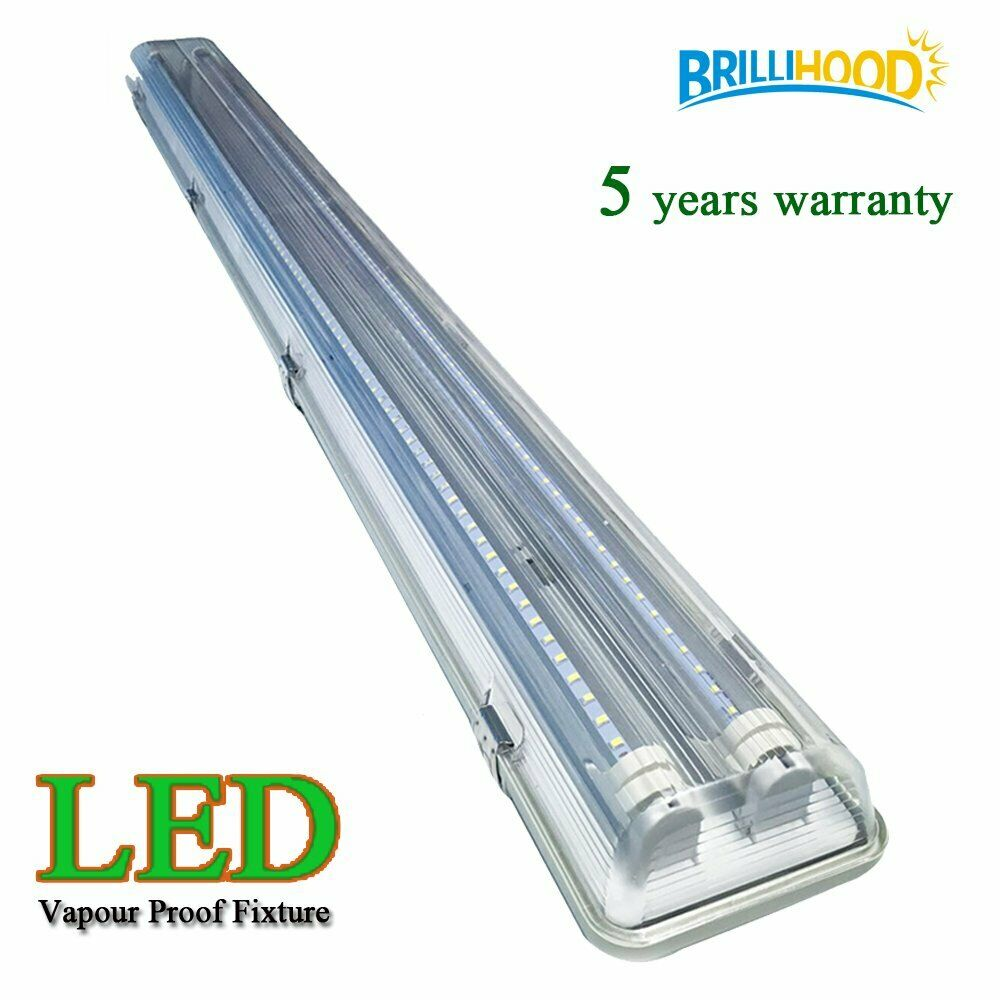 Replace Garage Lights: 4ft Vapor Proof IP65 LED Garage Fluorescent Light Fixture