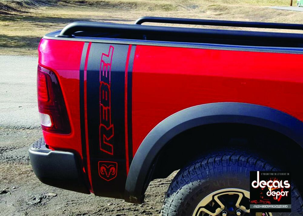 2x Bed Decal Graphic Vinyl Stripes Fits Dodge Ram 1500