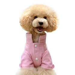 One Tail Four Paws Just The Peacoat Pet Coat, Medium, Baby Pink