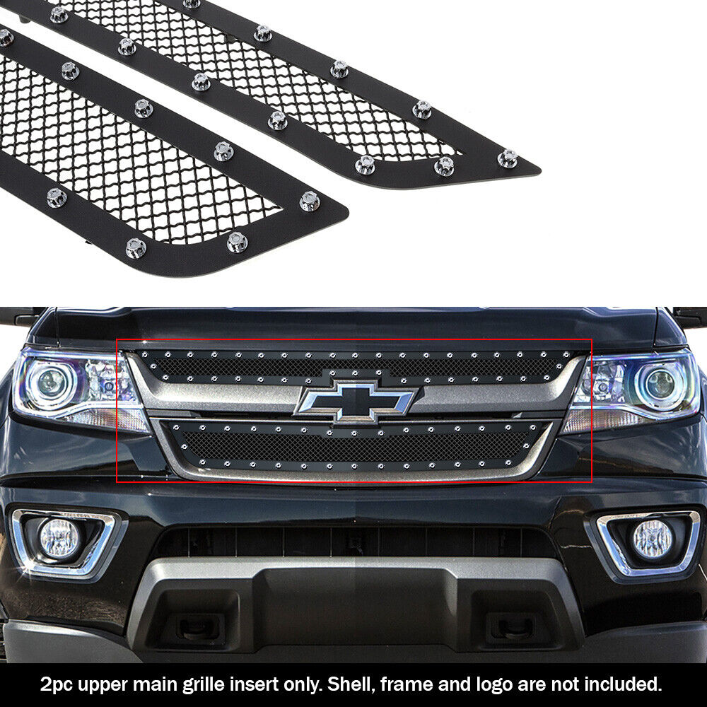 Fits 2015-2018 Chevy Colorado Stainless Steel Black Rivet