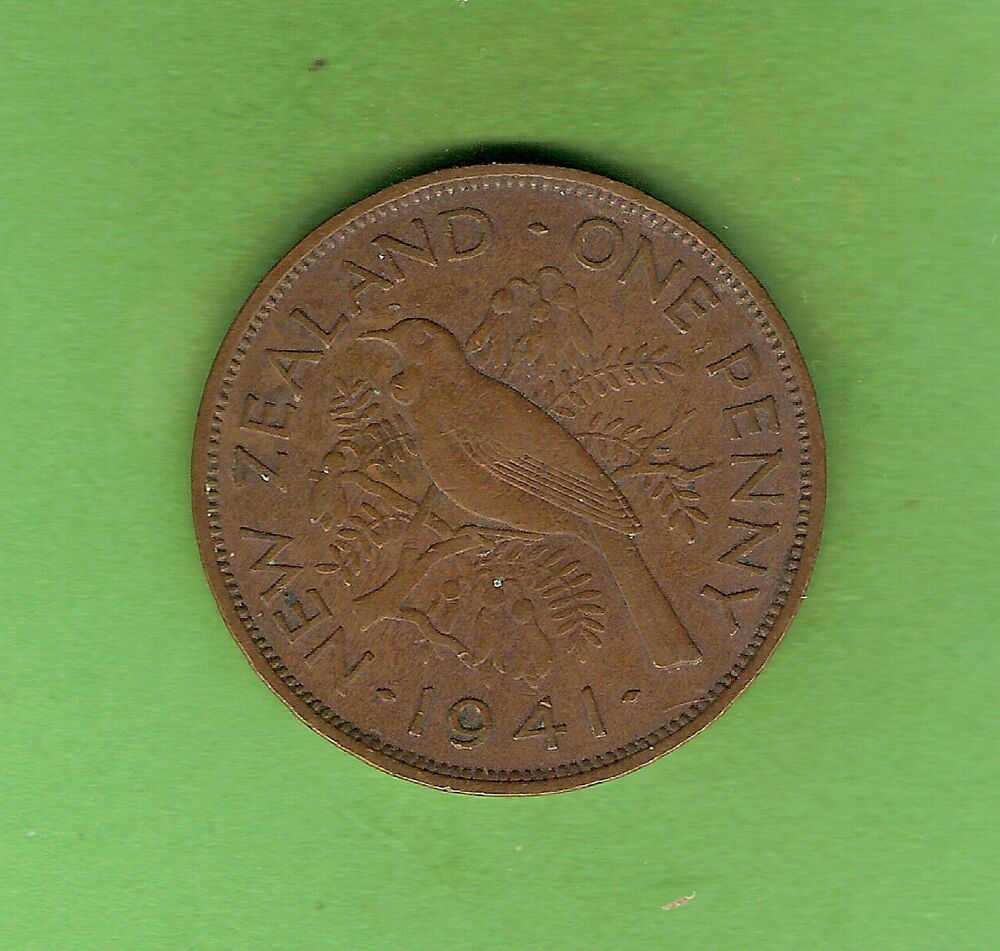 1941 new zealand penny coin ebay. Black Bedroom Furniture Sets. Home Design Ideas