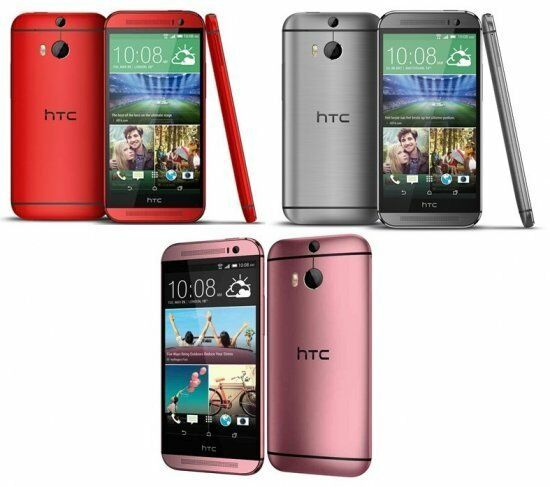 HTC One M8 16GB Unlocked OP6B100 Gunmetal Grey/Red ...