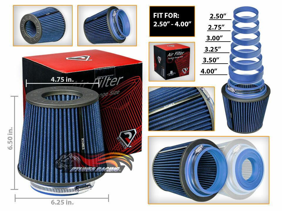 """3/"""" Cold Air Intake Filter Universal BLUE For P10//P20//P30//P40//P60//P6000//Parkwood"""