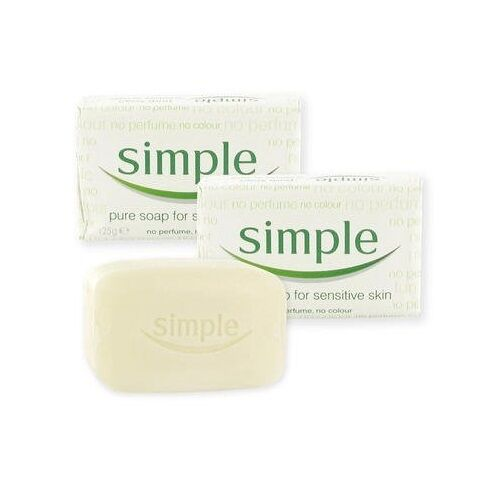 2x Simple Pure Soap Bars - 125g - For Sensitive Skin ...