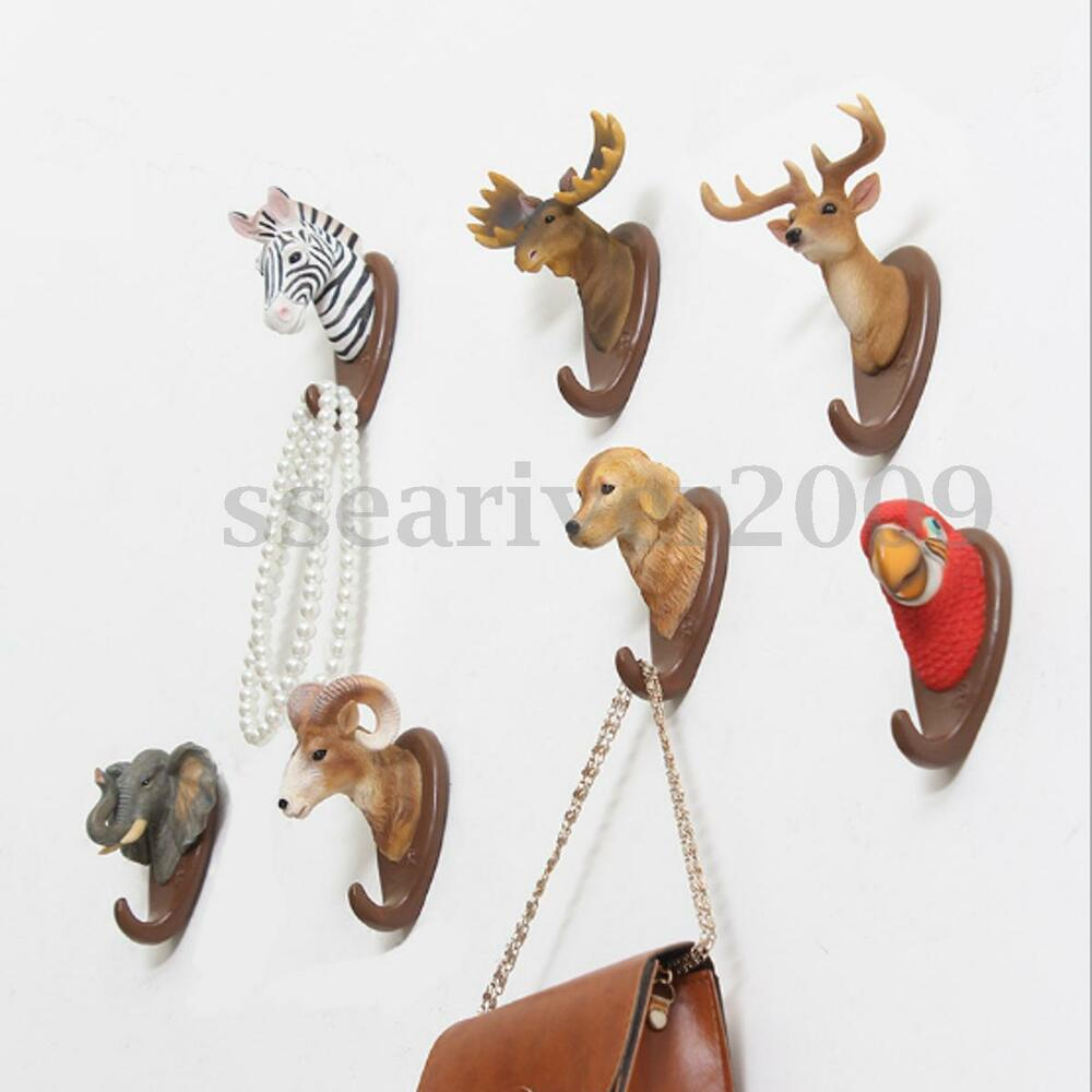 Animal Deer Antlers Wall Hook Home Decor Hanger Holder