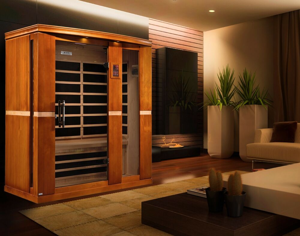 dynamic 3 person far infrared sauna madrid edition 8. Black Bedroom Furniture Sets. Home Design Ideas
