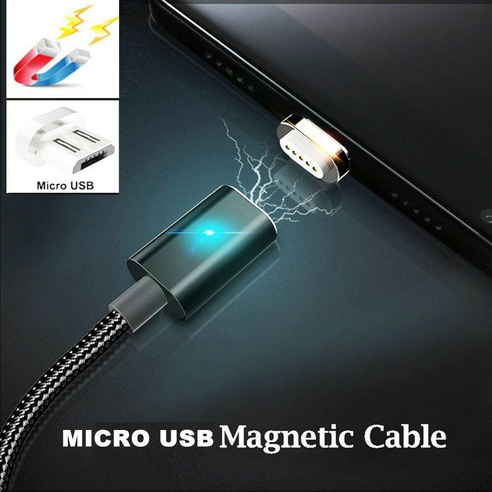 fast micro usb data cable charger 1m magnetic wire for. Black Bedroom Furniture Sets. Home Design Ideas