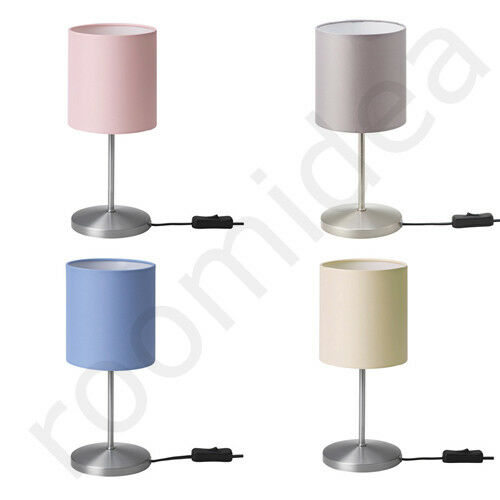 ikea ingared tischleuchte tischlampe lampe grau blau oder rosa neu ebay. Black Bedroom Furniture Sets. Home Design Ideas