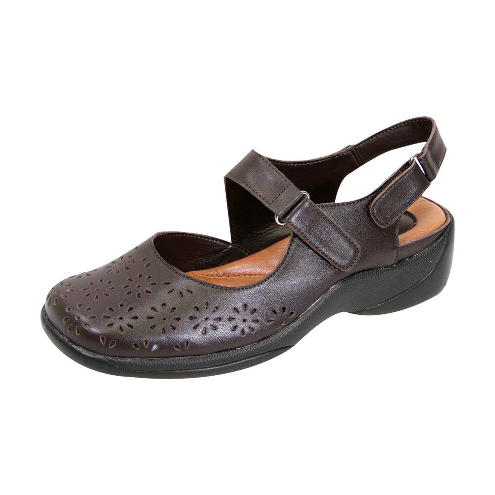 4b41f0d017c5 Details about FIC PEERAGE Kylie Women Wide Width Leather Comfort Sandal for  Everyday