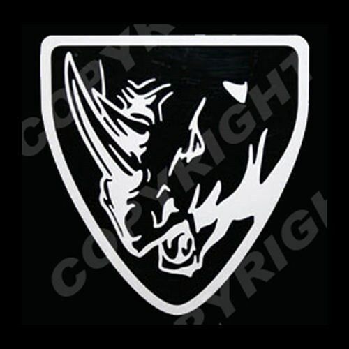 Yamaha Rhino Head With Shield Vinyl Decal Sticker Outline