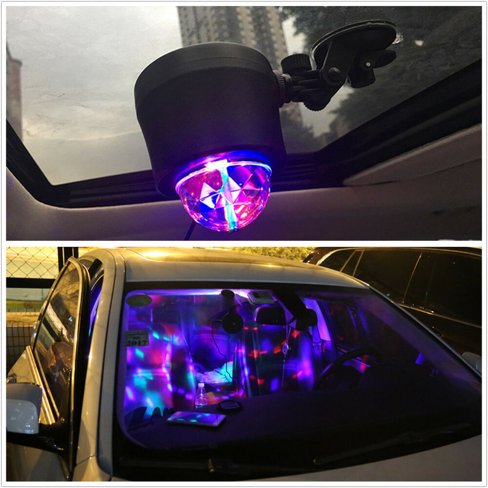 led ball usb rotating stage light car dj club disco ktv party bar rgb crystal ebay. Black Bedroom Furniture Sets. Home Design Ideas
