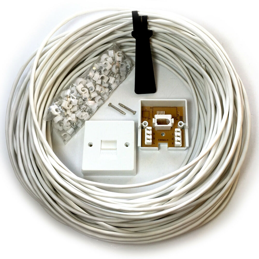 50m Bt Telephone Master Socket Box Line Extension Cable Kit 25m Wiring 30m 40m Lead Ebay