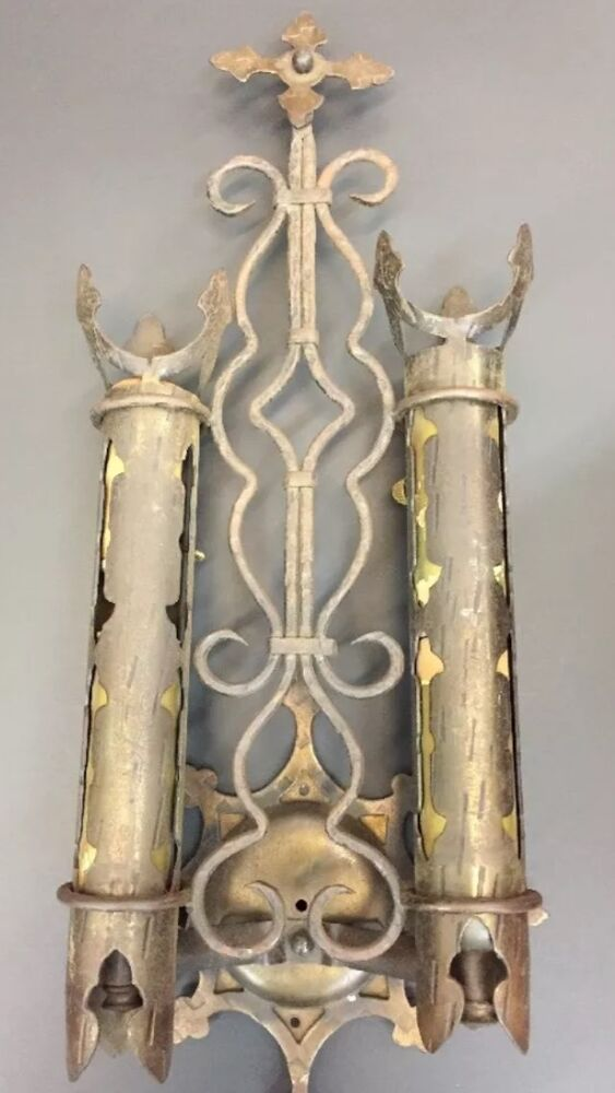 Antique Church Light Gothic Spanish Revival Wall Sconce Ebay