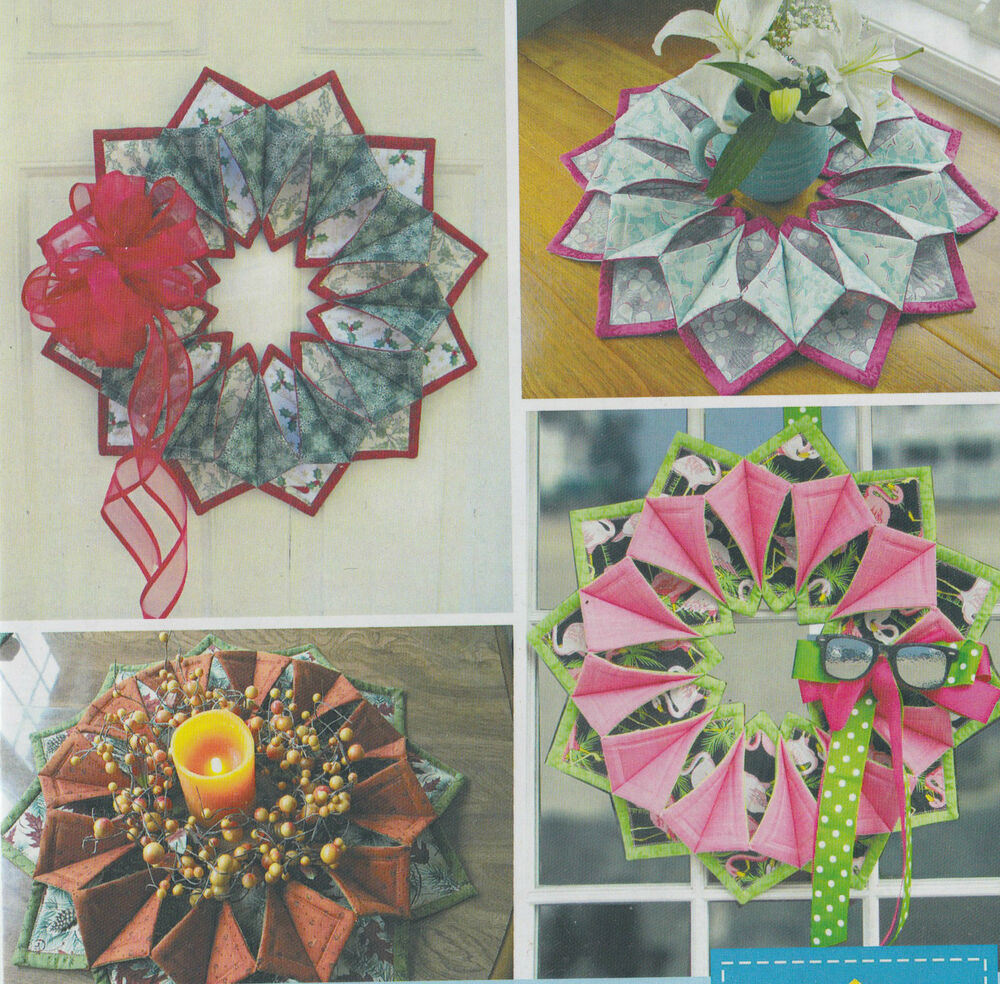 Pattern Fold N Stitch Wreath Fun Seasonal Wreath Or