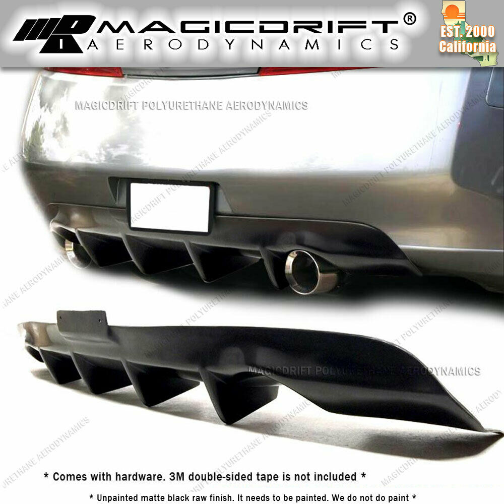 For 03-06 Infiniti G35 Coupe JDM 4-Fins Rear Bumper Lower ...